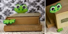 Felt Frog Ribbon Bookmark