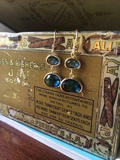Hingham Harbor Earrings  Dark Blue by adjewelry on Etsy