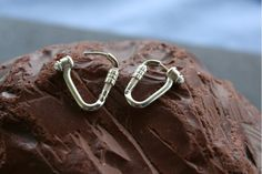 Climbing Locking Carabiner Earrings made from Sterling Silver Double Tongue Piercing, Double Cartilage Piercing, Dermal Piercing, Tongue Rings, Peircings, Tongue Piercings, Cartilage Piercings, Nose Rings, Climbing Carabiner