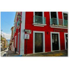 Trademark Fine Art Old San Juan 13 inch Canvas Art by CATeyes, Size: 16 x 24, Red