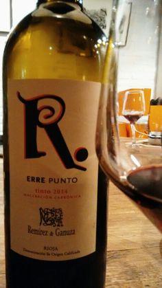 Erre punto 2014 - DO Ca Rioja - Bodegas Fernando Remírez de Ganuza - Vino tinto joven de maceracion carbonica - 90% Tempranillo, 5% Graciano y 5% Viura y Malvasía - 13.5% - Se recomienda servir a 12º