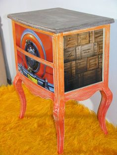 Kommode Kuba - Decoupage mit kubanischen Motiven Dresser, Upcycled Crafts