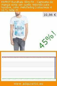 ESPRIT Rundhals Slim Fit - Camiseta de manga corta con cuello redondo para hombre, color mehrfarbig (colourway 4 117), talla m (Ropa). Baja 45%! Precio actual 10,96 €, el precio anterior fue de 20,00 €. https://www.adquisitio.es/esprit/rundhals-slim-fit-91
