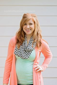 Love the scarf. Looks light weight plus has a cute pattern. (From behindthecameraanddreaming blog -- post about Stitch Fix & pregnant)