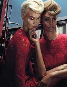 Karlie Kloss and Joan Smalls photographed by Steven Klein for W November 2014