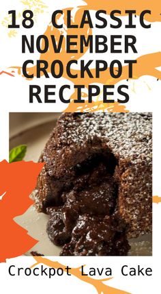 18 Classic November Crockpots: Crockpot Lava Cake