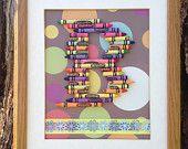 Custom Crayon Initial Art for a Baby Girl or Boy. $32.00, via Etsy.