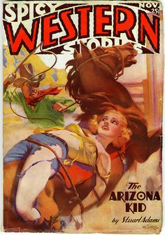 Spicy Western Stories (Nov 1936) by Book Covers: Mars Sci-Fi, Vintage Sexy Paperbacks, via Flickr