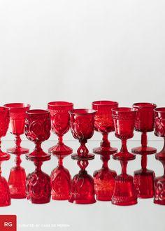 Red Goblets // Casa de Perrin