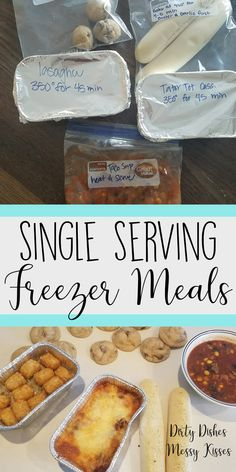 Single Serving Freezer Meals – Cooking for one and need an easy go to? Here are three easy dinners you can throw in the freezer for the days you don't feel like cooking.