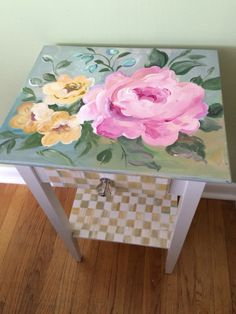 Hand painted table