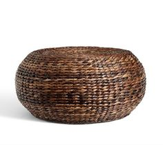 Round Woven Coffee Table | Pottery Barn   I Like This Color Better!