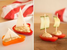 Cute idea for veggie boats --lunch or snacks at Florence Crittenton. Yummm