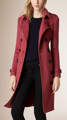 Dusty peony rose Sandringham Fit Cashmere Trench Coat - Image 2