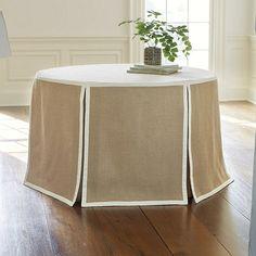 "Paneled Party Tablecloth Burlap - 72"""