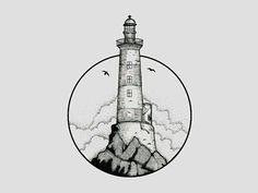 tattoo ideas /tattoo design / tattoo arm / tattoo for men / tattoo for women / tatoo geometric / tattoo skull / Tattoo small / Tattoo geometric Tattoo Main, Arm Tattoo, Sleeve Tattoos, Rose Tattoos, New Tattoos, Tattoos For Guys, Dragon Tattoos, Lighthouse Drawing, Lighthouse Tattoos