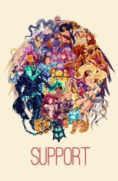 League of Legends Supports! by Kinosaurus on DeviantArt