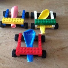 LEGO FUN: Lego_the parts balloon car to make it_DIY by . - Informationen zu LEGO FUN: Lego_the parts balloon car to make it_DIY by … Pin Sie können mein Pr - Lego Activities, Toddler Activities, Childcare Activities, Cool Diy, Fun Diy, Legos, Bolo Lego, Diy Lego, Balloon Cars