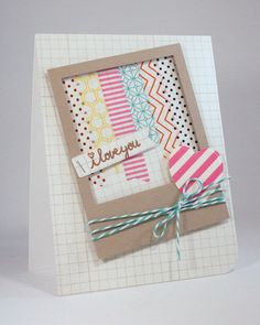 So cute! Shape N Tape by carissawiley, via Flickr #lifestylecrafts