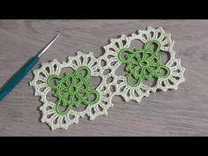 Kare Dantel Motifi Yapımı, Tığişi örgü renkli iplerle motif yapımı, Crochet - YouTube