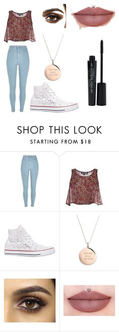 """Untitled #5"" by sofiaaguiniga ❤ liked on Polyvore featuring River Island, House of Holland, Converse, Kate Spade and Smashbox"