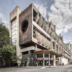 Technical Library, Tbilisi, Georgia.  Architect: G. Bichiashvili.  Photographer: Roberto Conte -> @ilcontephotography  #art #artist #architect #archilovers #architecture #architectureporn #architecturephotography #architecturelovers #awesome #brut #brutal #brutalism #brutalist #brutalismarchitecture #beautiful #perfect #raw #concrete #minimalism #style #details #design #dope #graphic #geometric #building #georgia #soviet #modern #sky