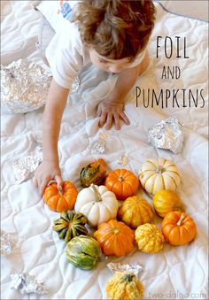 Invitation to Explore: Pumpkins and Foil from Twodaloo
