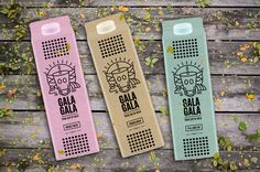 "Packaging design and branding for milk company ""Gala Gala"". Gala (Γάλα) in Greek means milk."