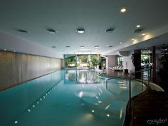 Hotel L'Albereta in Erbusco, Italy: An indoor swimming pool with Jacuzzi, beauty treatments, massages and sauna invite you to relax and support your wellbeing. Honeymoon Hotels, Indoor Swimming Pools, Beautiful Hotels, Wedding Night, Jacuzzi, Luxury Living, Outdoor Decor, Home, Spas