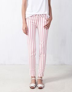 COLOURED STRIPE SKINNY JEANS - NEW PRODUCTS - WOMAN - Israel