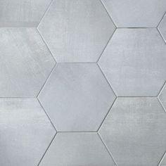 "Meadowmere Cement Gray 3"" Hexagon Matte Ceramic Tile"