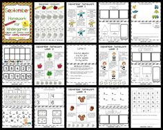 Kindergarten homework ideas
