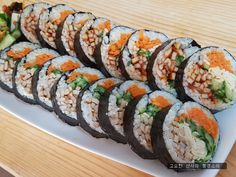 Kimbap, Asian Recipes, Ethnic Recipes, Korean Food, Food Presentation, Holidays And Events, Allrecipes, Sushi, Food Porn