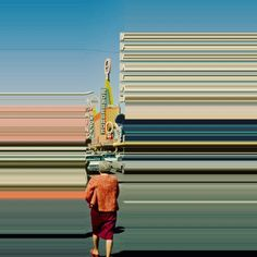 From Memphis, Tennessee, the photographer and graphic designer Frances Berry imagines and gives life to surrealistic works that belong to her project Lines We L Glitch Art, Glitch Kunst, Photo Distortion, Distortion Photography, Photography Projects, Photography Photos, Reflection Photography, Night Photography, Street Photography