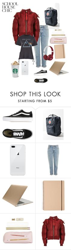 """""""Library chic"""" by janenicola ❤ liked on Polyvore featuring Vans, Fjällräven, Topshop, Tucano, Kate Spade, Beats by Dr. Dre and Ivy Park"""
