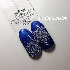 #naildesign #nailart #winternailart #snowflakenailart #bluenail