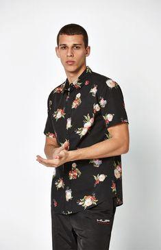 PacSun Way Up Short Sleeve Button Up Shirt at PacSun.com b54af8ff23