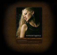 Model Agency Flash Templates by Delta
