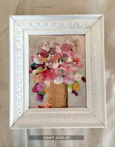 How to make easy floral art (using old outdated thrift store art)! This is so great! Check out the before pics.