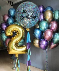 Love the colors Gold Number Balloons, Metallic Balloons, Purple Balloons, Helium Balloons, Latex Balloons, Party Ballons, Birthday Balloons, Birthday Fun, Birthday Parties