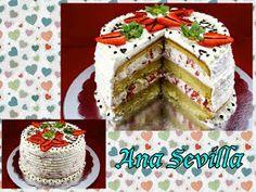Tarta de nata y fresas (Con bizcocho) Ana Sevilla cocina tradicional