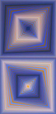 BI-RHOMBS, Ltd Ed Silk-screen, Victor Vasarely – Human's Art