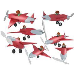 Pilot and Plane 3d model