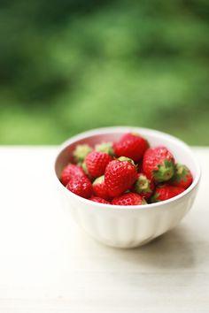 bowl of summer strawberries.