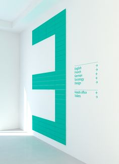 Internal signage for Sidney Stringer Academy by Wire Design, London.