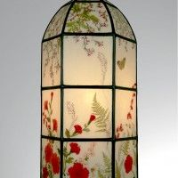 Enhance Your Home with These Hanging Lamp Shades Embedded with Pressed Flowers - $279