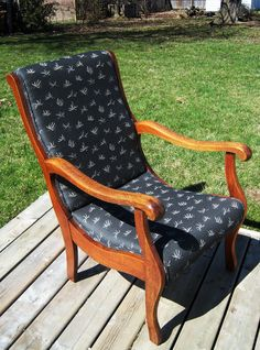 * re-oiled & re-upholstered chair