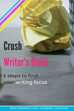 Writer's block can stall even the best writers. When a high school, middle school or college student is forced to write an essay, writer's block can turn into procrastination. Here are 6 steps to write an essay even when the words won't come!