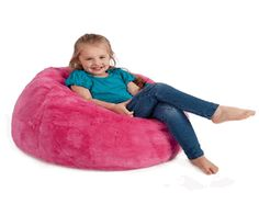 Get an adult size or kids size giant fluffy bean bag in many styles and colours. We have pink, black, cream, brown and even leopard print and zebra print.