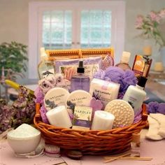 Amazon.com: Lavender Bath Body Spa Basket for Women - Mothers Day Gift Idea for Her: Beauty